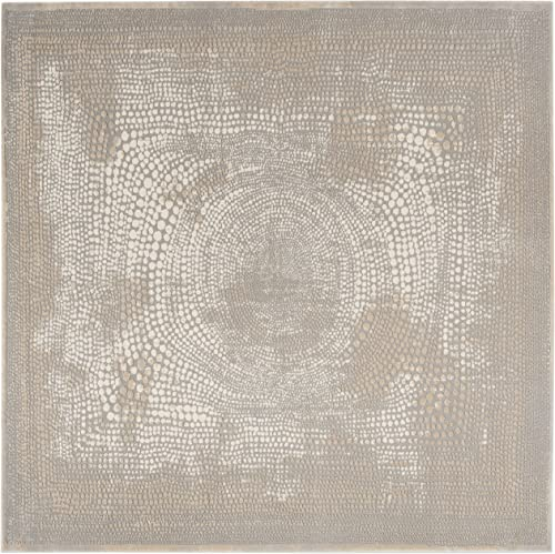Safavieh Meadow Collection MDW333A Area Rug, 6 7 x 6 7 Square, Ivory Grey