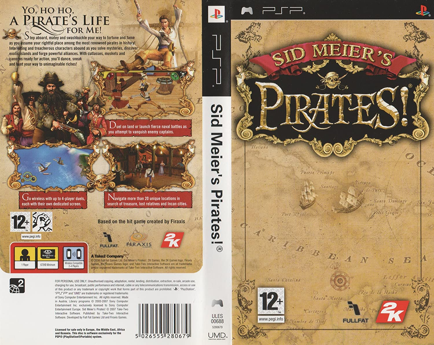 Amazon.com: Sid Meier s Piratas (PSP) por tomar 2: Video Games