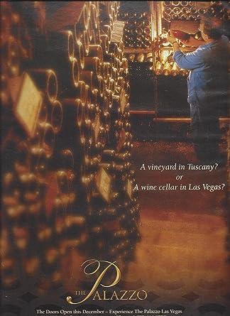Magazine Advertisement For 2008 Palazzo Hotel Las Vegas Wine Cellar
