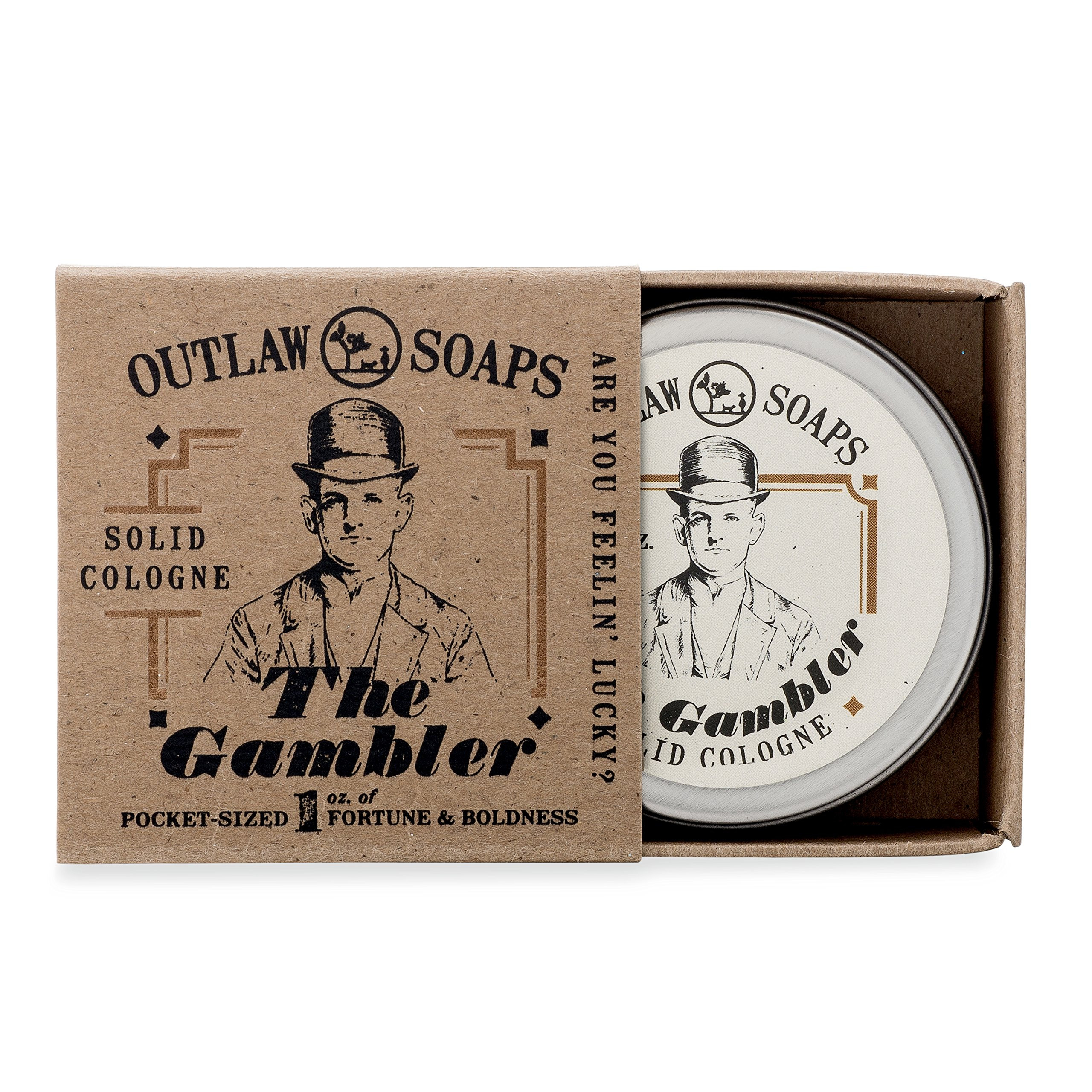 The Gambler Bourbon-inspired Solid Cologne - Smells like fortune and boldness - 1 oz - The warm smell of whiskey and tobacco, finished with a hint of leather - Men's or Women's Cologne