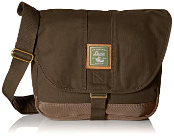 Amazon.com   G.H. Bass   Co. Tamarack Messenger, Khaki, One Size ... ebdbdb15e3