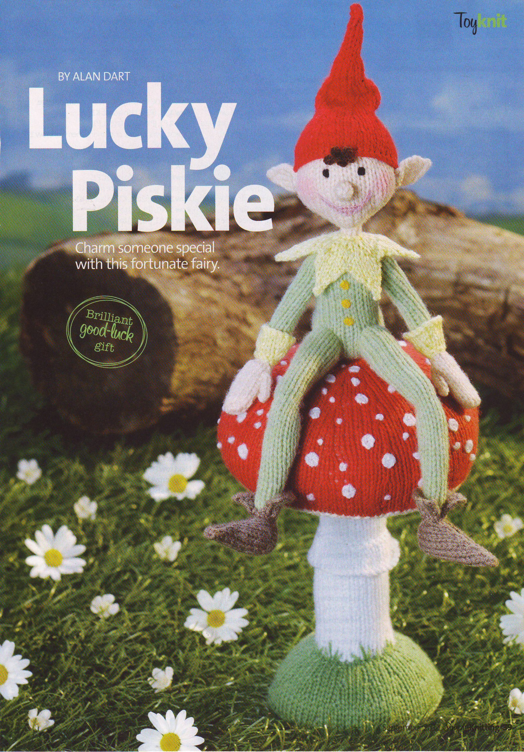 Lucky Piskie Toy Cornish Fairy Pixie Knitting Pattern  Measurements The  Toadstool 23cm tall The Piskie 25cm tall (Simply Knitting Magazine Pull Out  Pattern) ... 06d995d8859