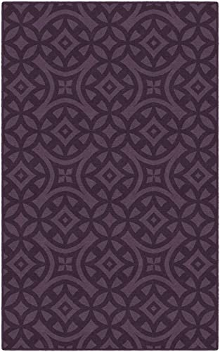 Brumlow Mills Harper Royal Purple Trellis Area Rug, 5 x 8