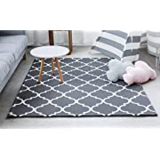 Little Bot Baby Play mat, Non-Toxic, odourless and Ultra-Cushioned. Prismatic and Moroccan (Cool Grey), 71 inch x 59 inch