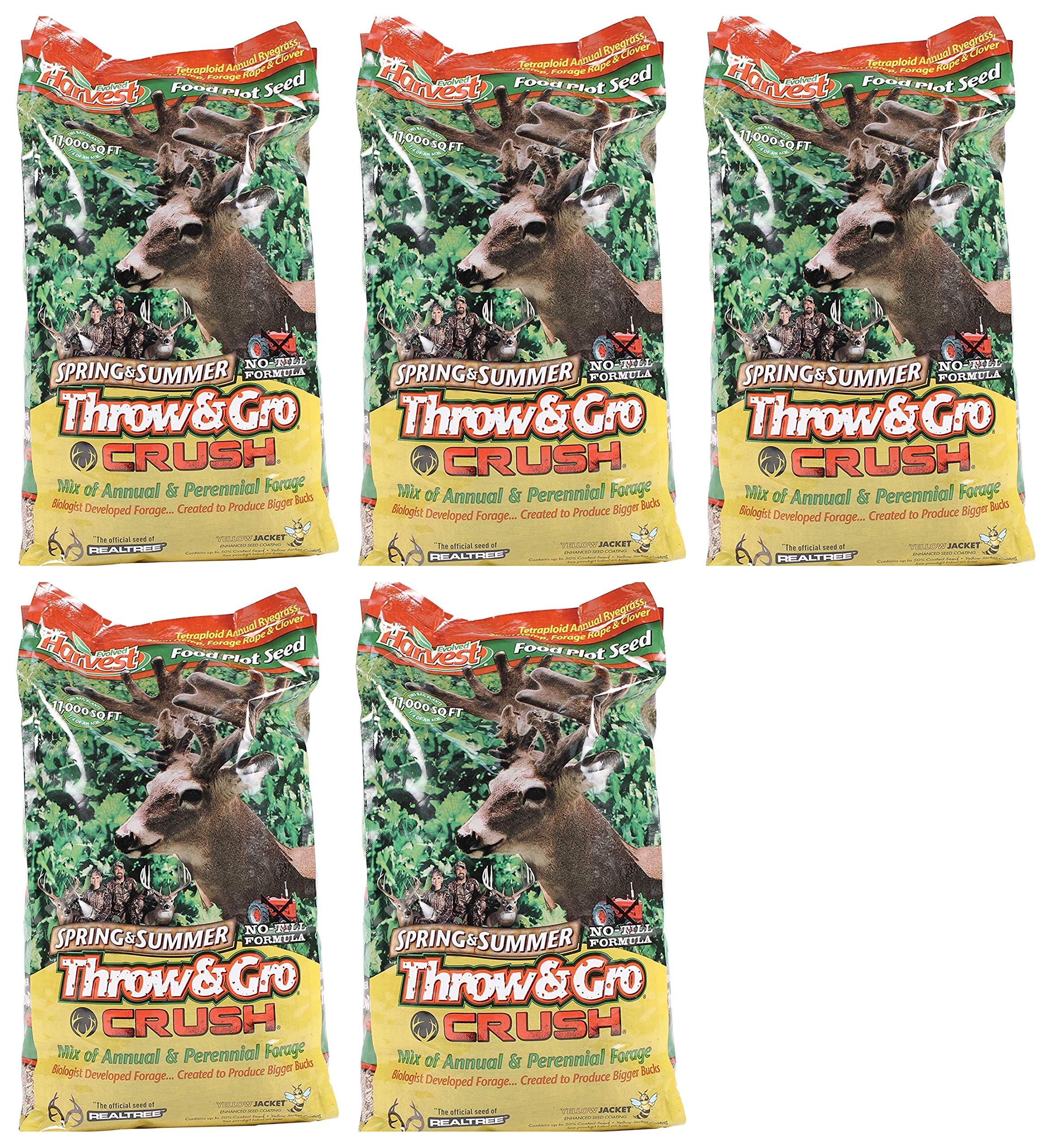 Evolved Harvest Throw & GRO Spring Crush Deer Food Plot Seed (Fіvе Расk)