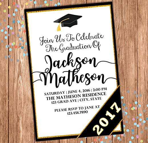 Image Unavailable. Image not available for. Color: Graduation Party Invitation ...