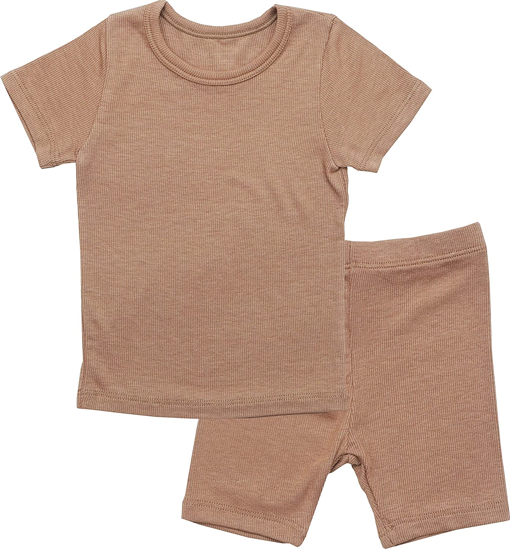 AVAUMA Newborn Baby Little Boys Girls Snug-Fit Pajamas Summer Winter Short/Long Sleeve Sets Pjs Kids Clothes