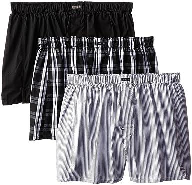 Calvin Klein Men's 3 Pack Woven Boxers Montague Stripe