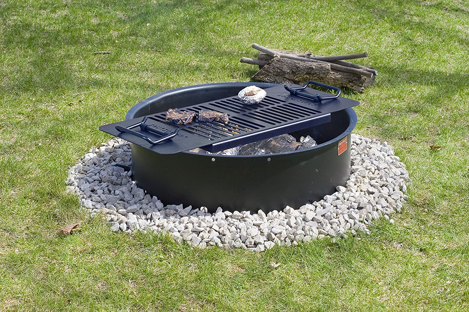 amazon com drop in cooking grate for round or square fire pits