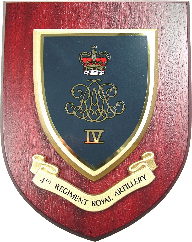 BRITISH ARMY 4TH REGIMENT ROYAL ARTILLERY BADGE