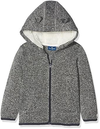TOM TAILOR Kids Baby-Jungen Jacke Knit Optic Fleece Jacket, Grau (Medium  Grey de6b41e55a