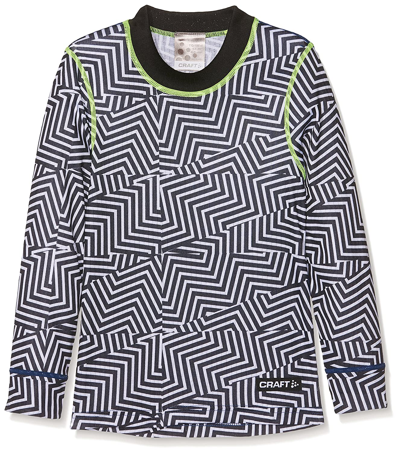 146//152 Black Craft Childrens Mix /& Match LS Junior P Maze Base Layer