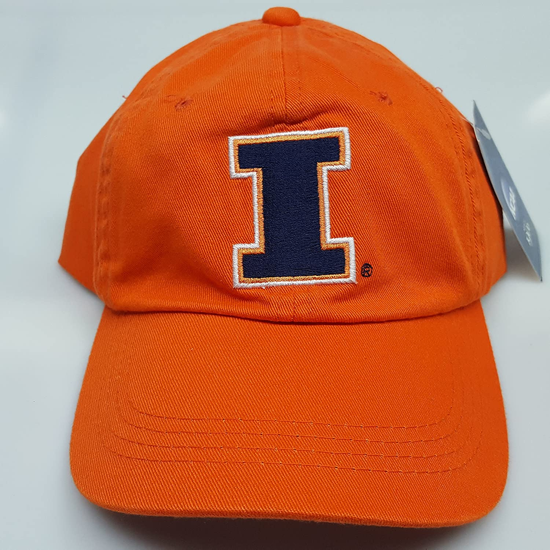 NCAAスポーツ新しい。イリノイfightimg Illini刺繍バックルバックオレンジキャップ B07BPC2LKP
