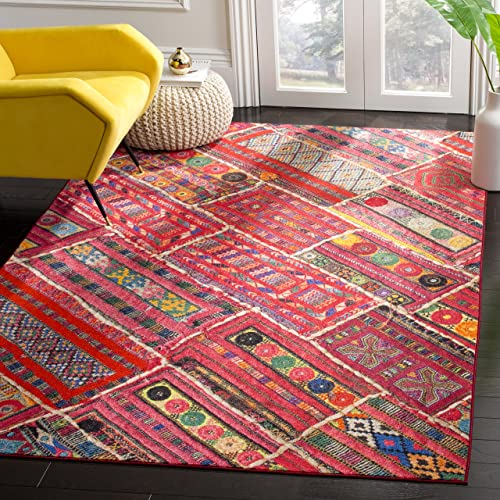 Safavieh Aztec Collection Area Rug, 3 x 5 , Coral Multi