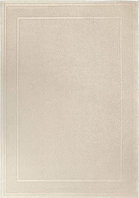 """Orian Rugs Jersey Home Indoor/Outdoor Bonita Area Rug, 7'7"""" x 10'10"""", Ivory"""