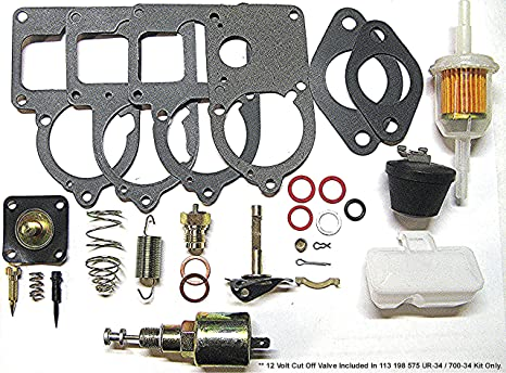 RADKE SERVICES VW Solex 28 Thru 34 Pict 3 Complete Carburetor Rebuild Kit  With Cut Off Valve