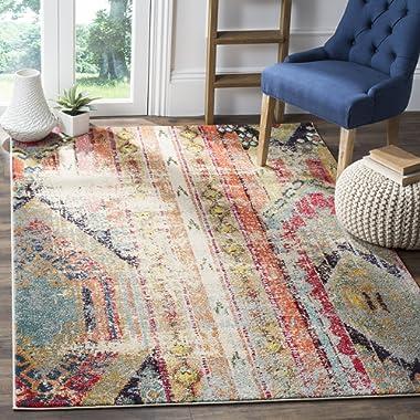 Safavieh Monaco Collection MNC222F Modern Bohemian Multicolored Distressed Area Rug (4' x 5'7 )