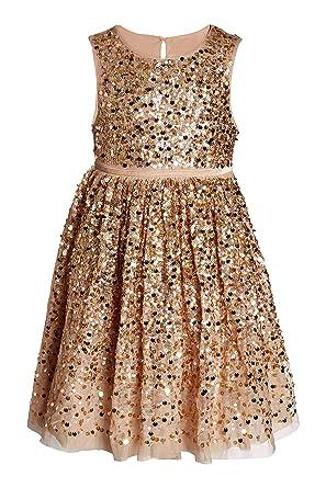 5df71d0387e4e Next Robe Ornée De Sequins (3 À 16 Ans) Fille  Amazon.fr  Vêtements ...