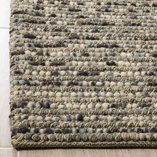 Safavieh Bohemian Collection BOH525K Hand-Knotted Grey and Multi Jute Area Rug 9' x 12'