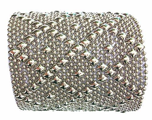 f4a31bbc9c2 Sergio Gutierrez Liquid Metal SG Silver Mesh Wide Cuff Bracelet B26 3 sizes  S, M, L (7.25 IN): Sergio Gutierrez: Amazon.ca: Jewelry
