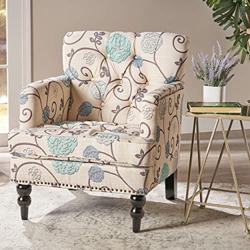 Christopher Knight Home Harrison Fabric Tufted Club Chair