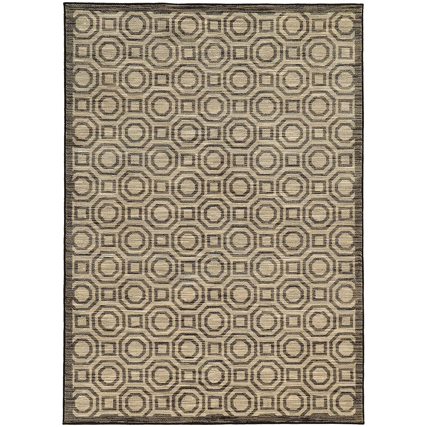 Christopher Knight Home CK-82264 Harmony Border Geometric Indoor Area Rug 7ft 10in X 10ft 10in Charcoal,Grey