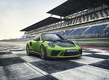 Porsche 911 GT3 RS (2018) Race Car Print on 10 Mil Archival Satin Paper