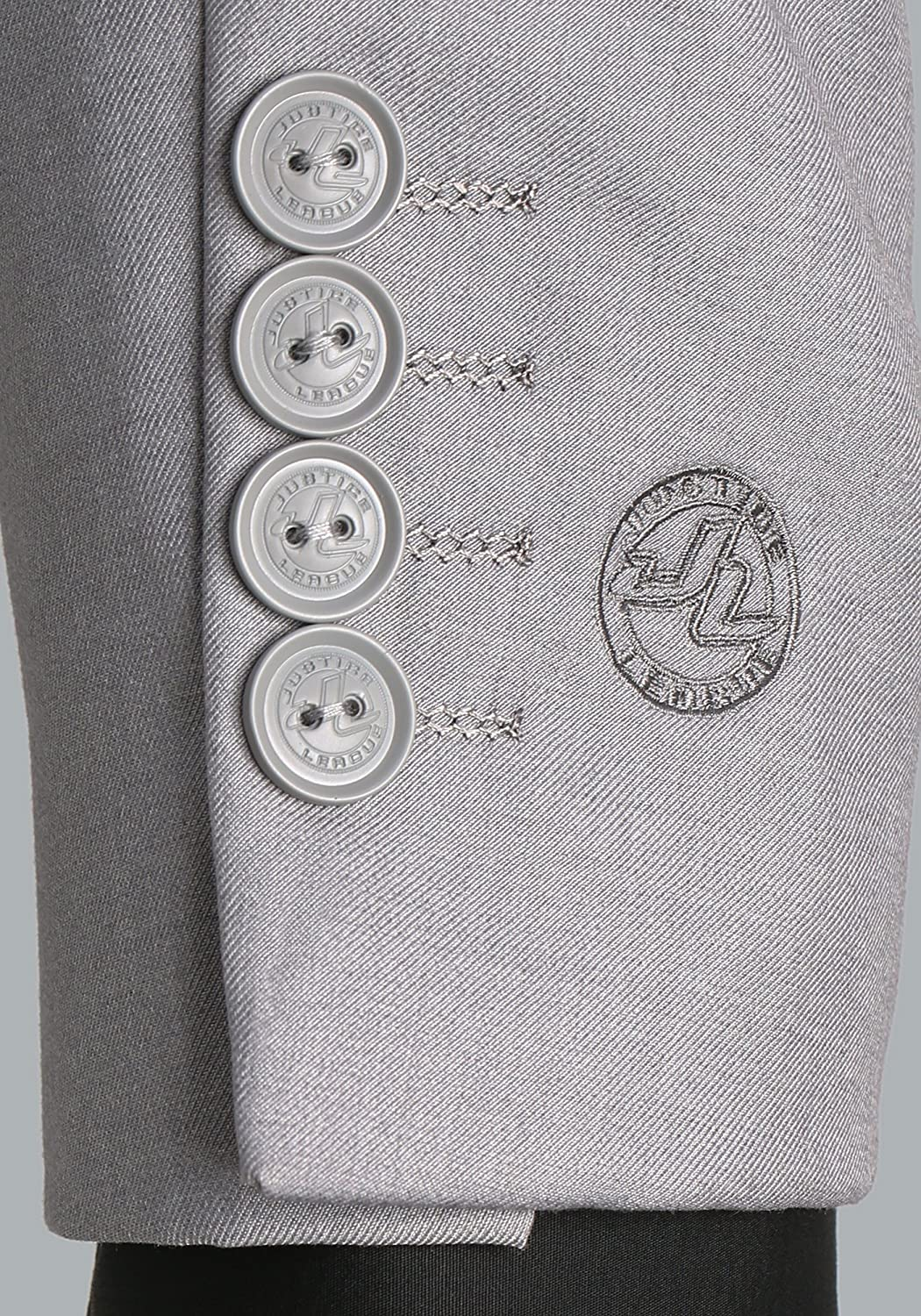 FunComInc Justice League Slim Fit Adult Suit Jacket with Justice League Logo Print Inner Lining