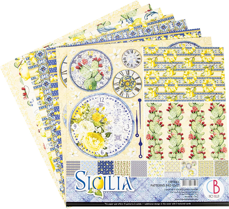 8 Designs//1 Each CIAO BELLA PAPER CBT033 Paper PAD 12 8//PKG Sicilia