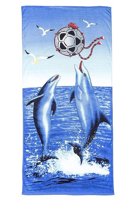 gibra® playa toalla, 70 x 140 cm), diseño de delfines