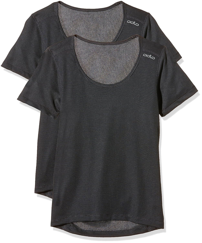 Odlo Damen Unterhemd Shirt Short Sleeve Crew Neck Cubic 2 Pack