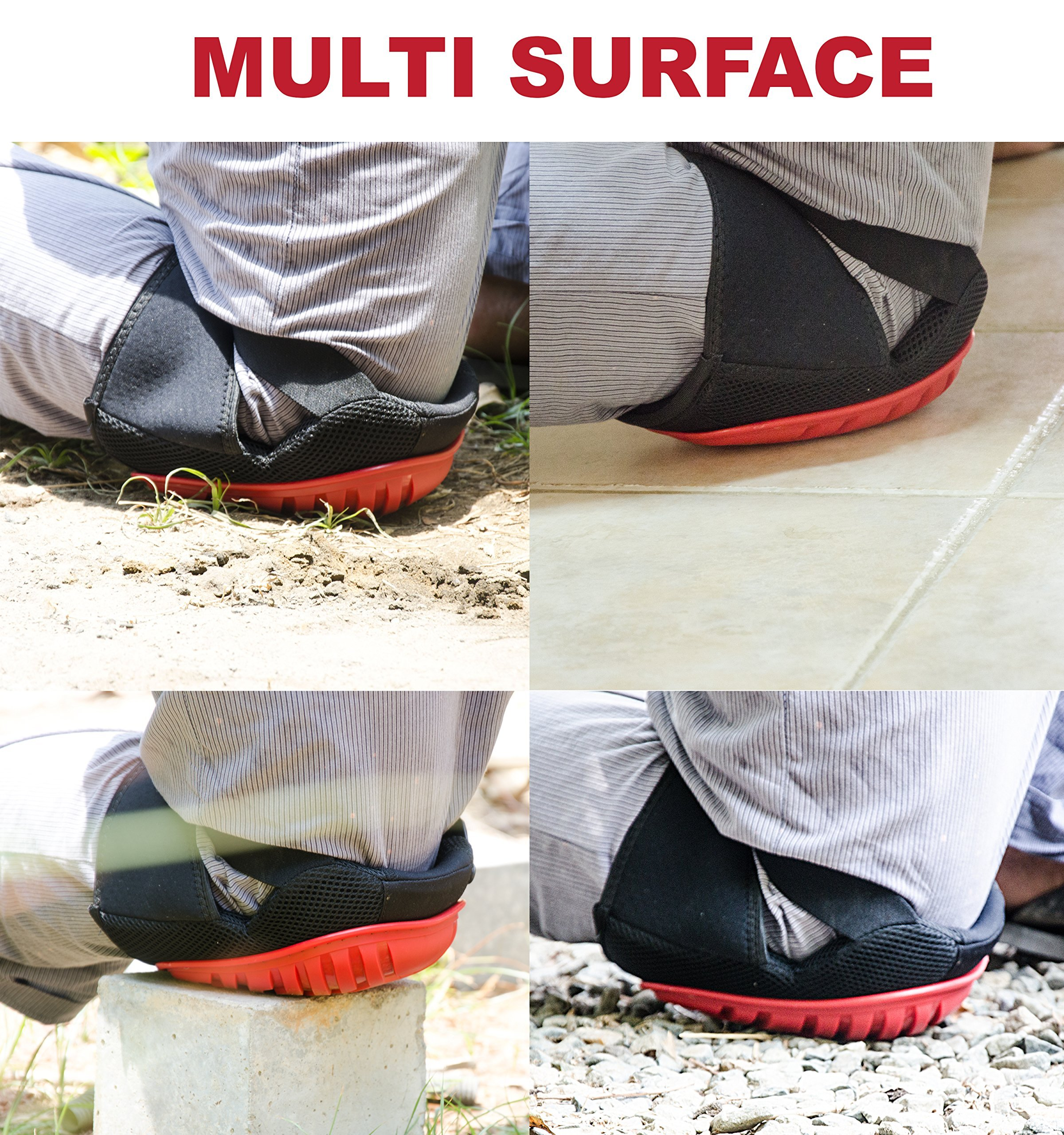 Professional Knee Pads - Easy to WEAR Heavy Duty Memory Foam Padding, Comfortable Gel Cushion, Strong Straps FITS All, Adjustable Easy-Fix Clips - Best for Gardening, Construction, Flooring by Kutir (Image #2)