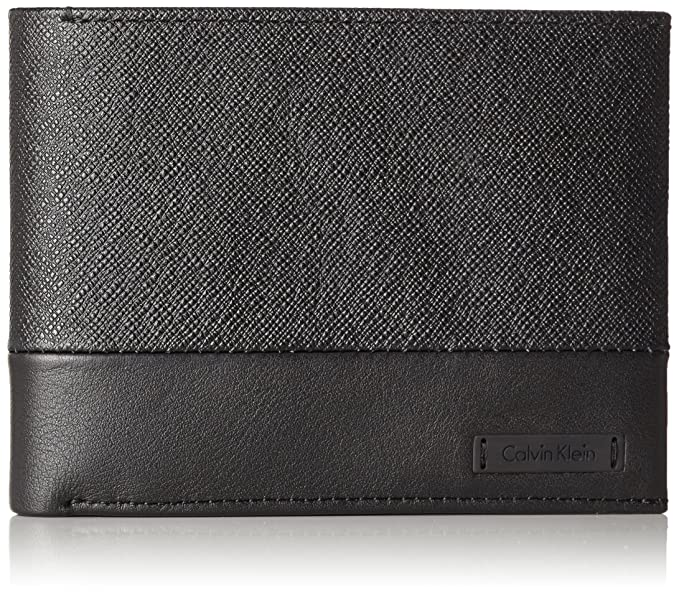 Calvin Klein - Adam Billfold 8cc, Carteras Hombre, Schwarz (Black), 2.5