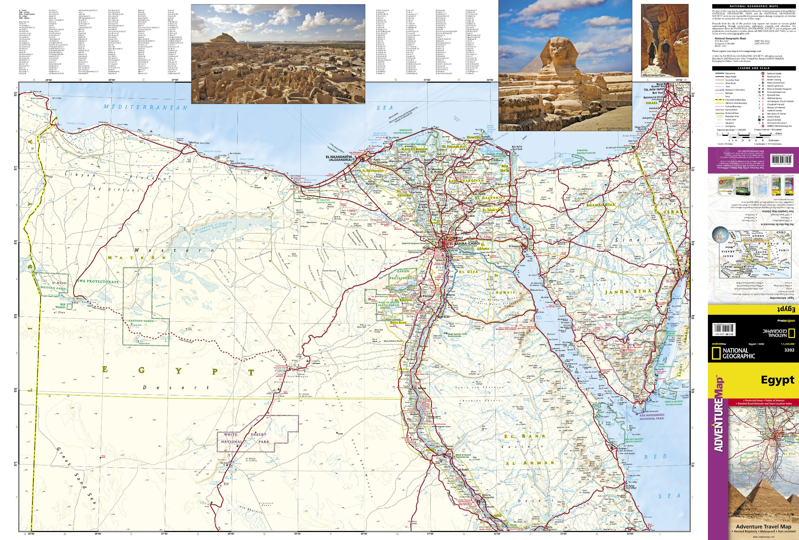 Egypt National Geographic Adventure Map National Geographic - Map of egypt national geographic