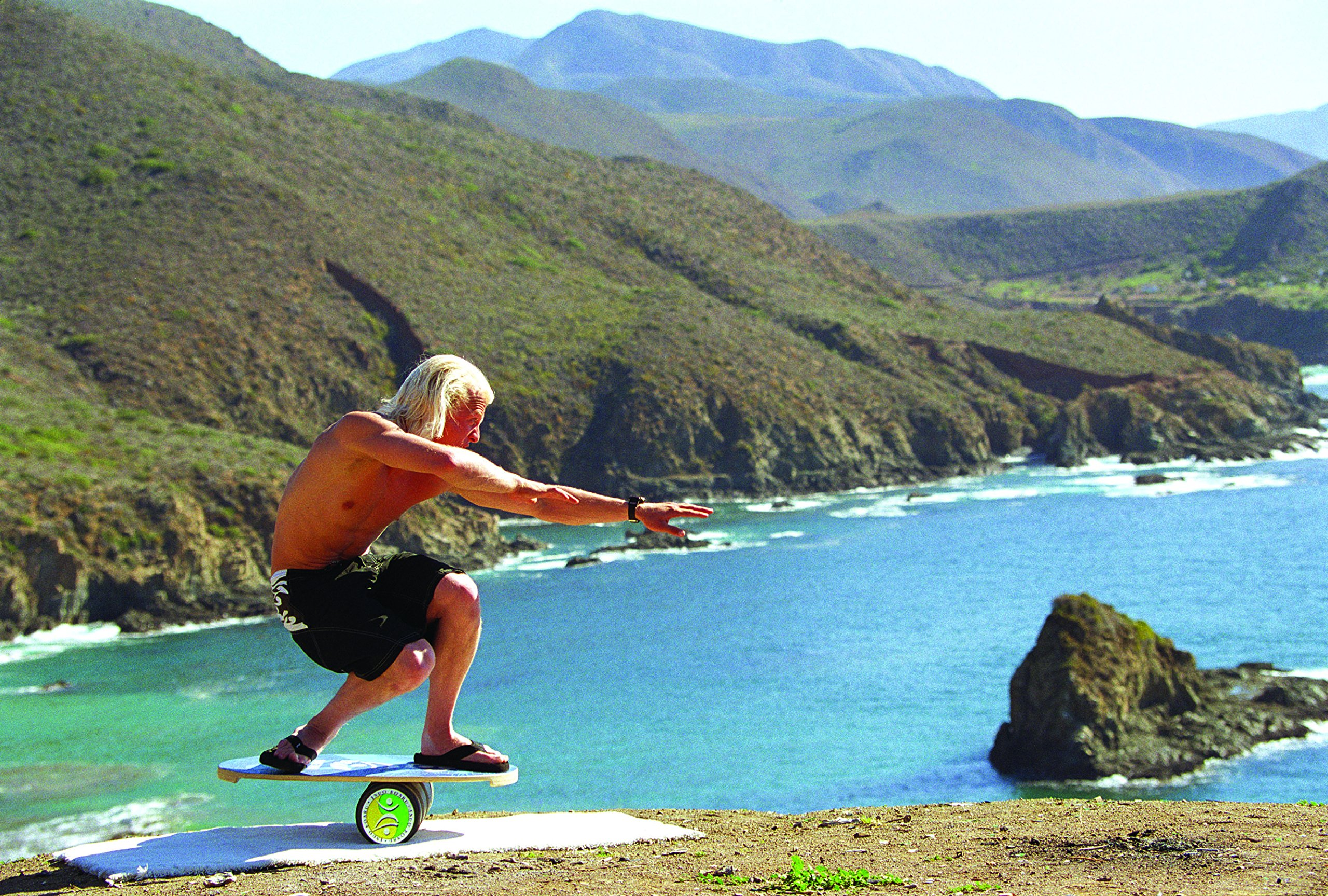 "INDO BOARD Original Balance Board with 6.5"" Roller and 30"" X 18"" Non-Slip Deck – Natural Wood Design by INDO BOARD (Image #7)"