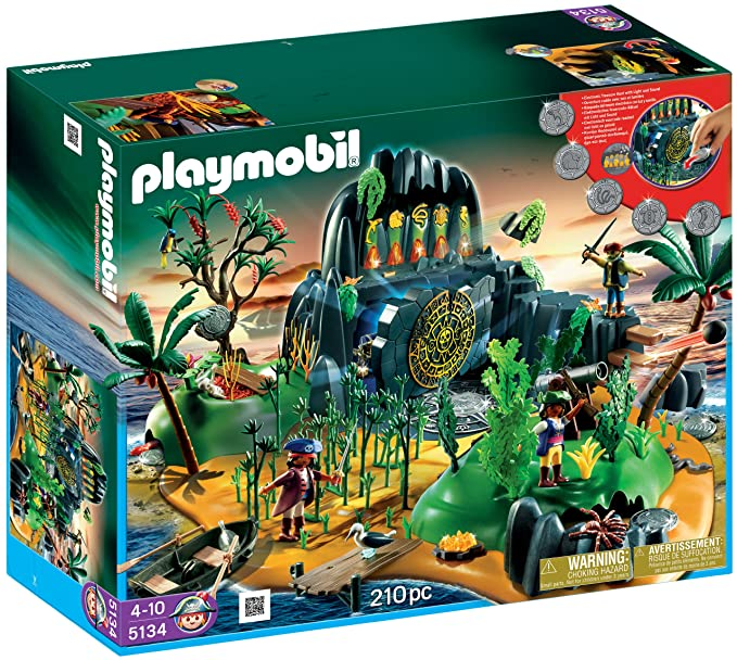 Playmobil Pirate Adventure Island, Multi Color (210 Pieces) Toy Figures at amazon