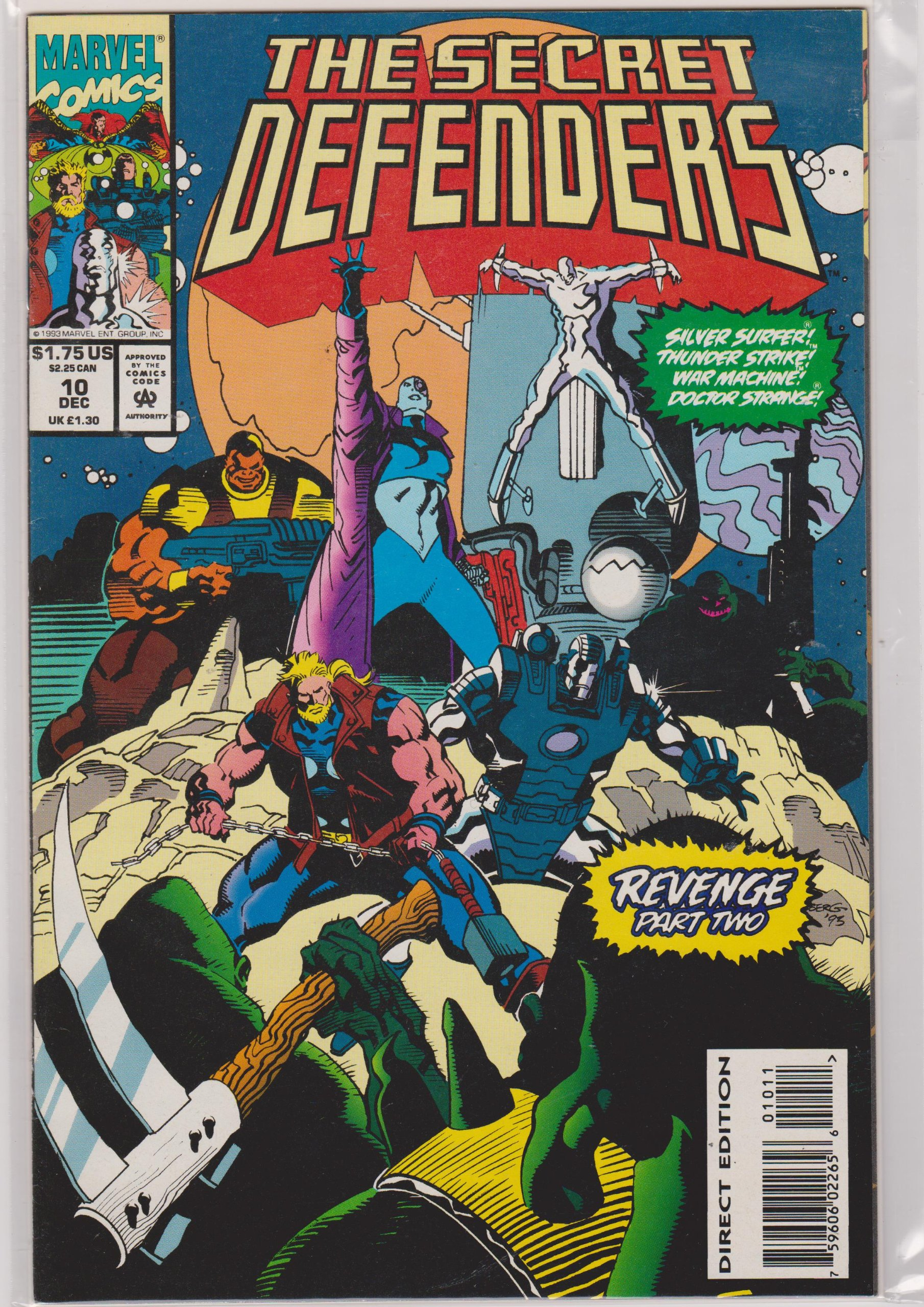 Marvel Comics THE DEFENDERS #10 first printing