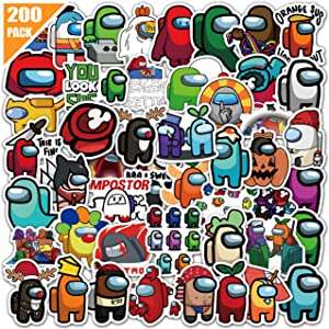 200 PCS Game Stickers for Laptop, Waterproof Vinyl Stickers Bicycle Motorcycle Fridge Cartoon Travel Luggage Decal Graffiti Patches Skateboard Water Bottle Stickers