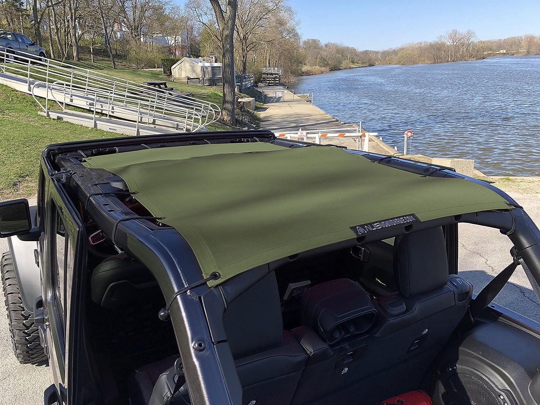 Alien Sunshade Jeep Wrangler 2018 Jlu Full Length Sun Shade Mesh In Water Top For 4