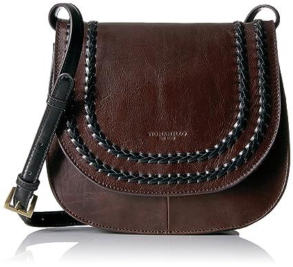942c14b2a8f Tignanello Classic Boho Saddle Bag, Brown Black  Handbags  Amazon.com