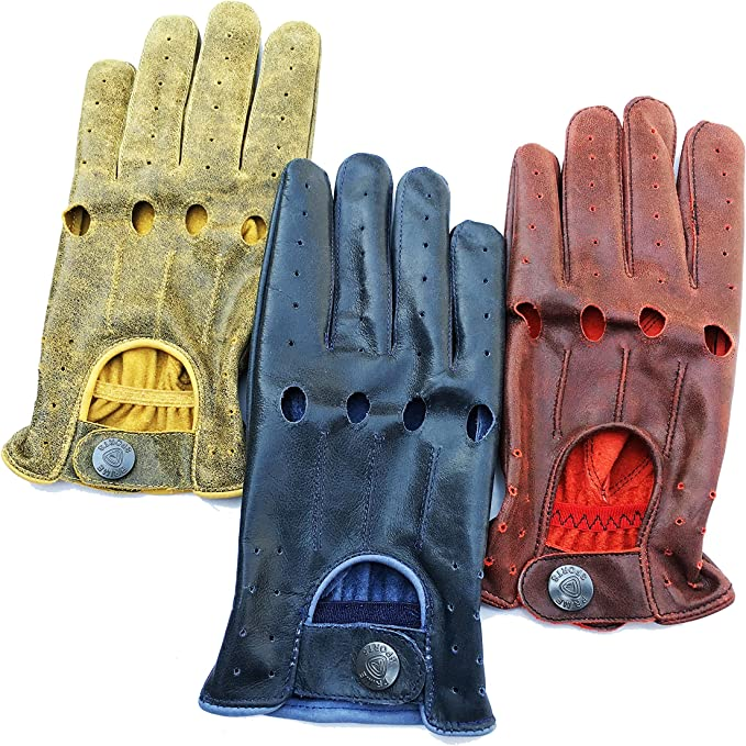 MENS CLASSIC DRIVING GLOVES SOFT GENUINE REAL LEATHER FASHION MITTS ALL SIZES