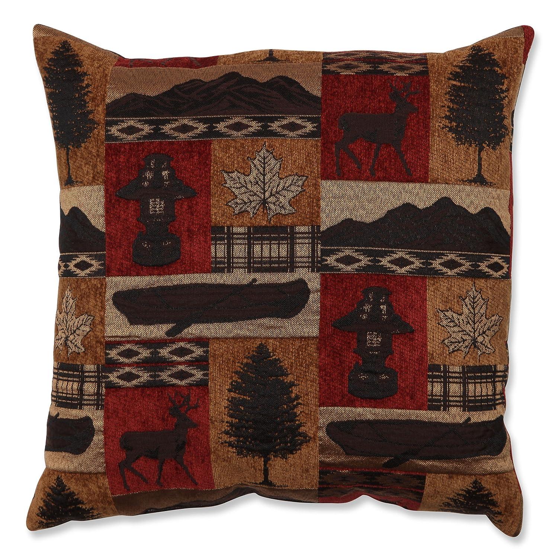 Amazon.com: Pillow Perfect Lodge Throw Pillow, 18-Inch, Redstone ...
