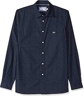 faf6a85f Lacoste Men's Long Sleeve Slim Fit Blue Pack Striped Poplin Button ...