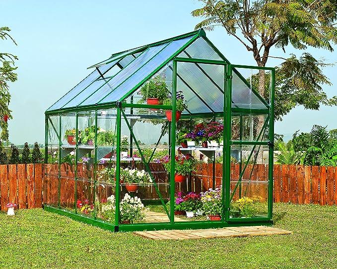 Palram Hybrid 6X10 Bundle Grün Invernadero, Verde, 306x185x208 cm: Amazon.es: Jardín