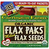 Carrington Farms Organic Ground Milled Flax Seed, 12 Count Easy Serve Packet