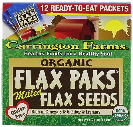 Carrington Farms Semillas de lino molido orgánico, 12 ...