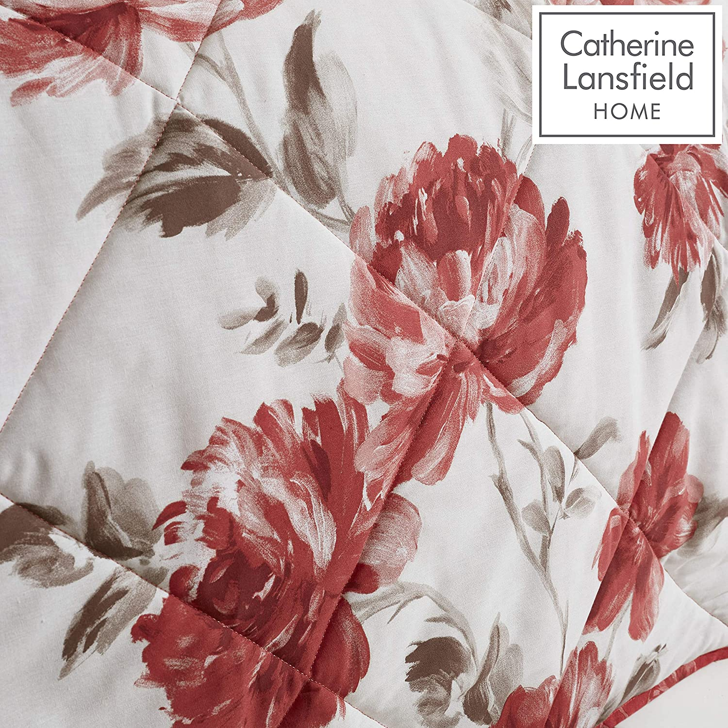 Catherine Lansfield Couvre-lit en Polyester Rouge 220 x 230 cm