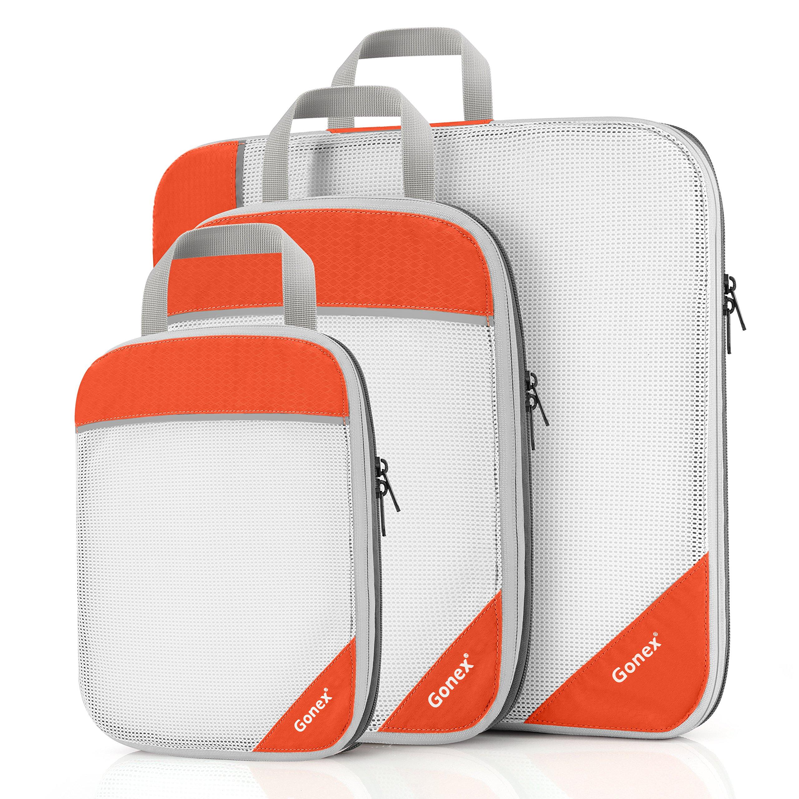 Gonex Sac Rangement Organisateur de Valise Bagage Lot de 3 (L+M+S edeefe9911e
