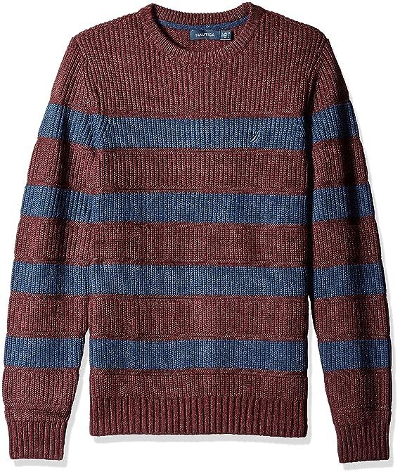 nautica men s breton long sleeve stripe sweater at amazon men s