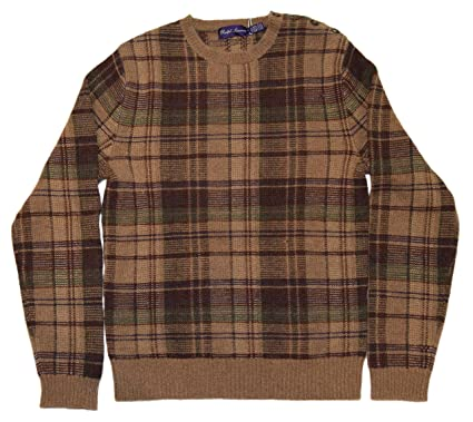 15b3ae86a Image Unavailable. Image not available for. Color  Ralph Lauren Purple  Label Mens Cashmere Sweater Italy Brown Green ...